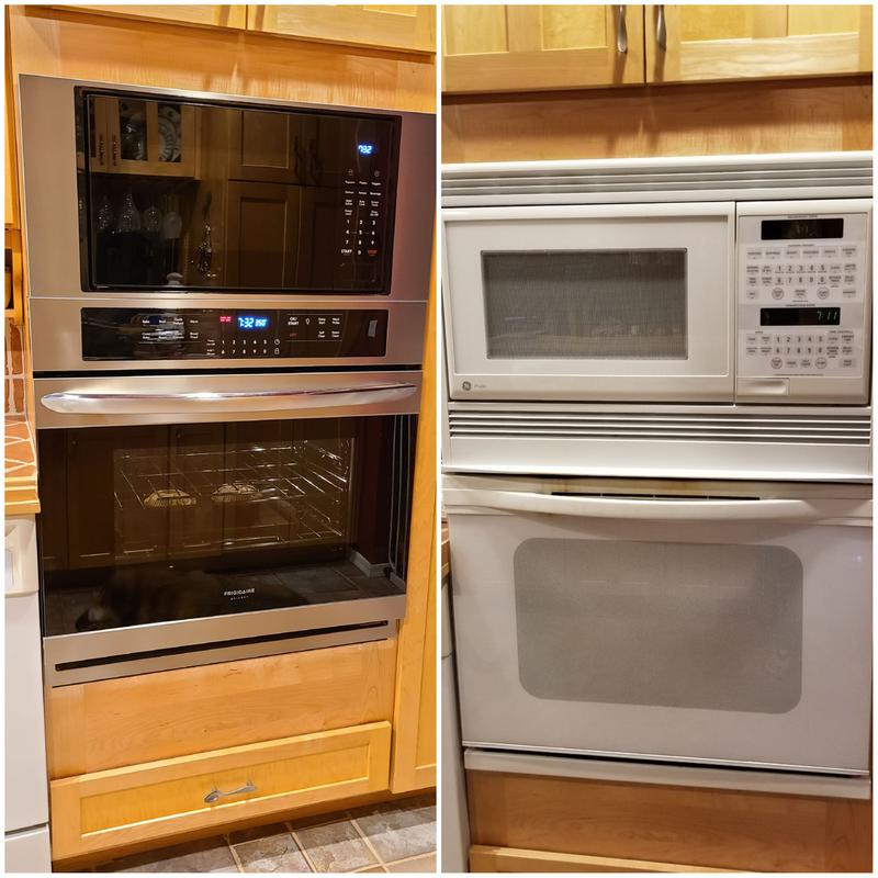 frigidaire fgmc3066ud gallery series 30 electric microwave wall oven combination with 6 7 cu ft total capacity true convection effortless