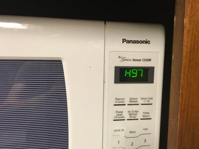 panasonic 1 6 cu ft 1250w countertop inverter microwave oven black