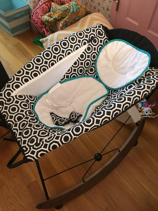 2 rocking chairs instrumental rolling chair wheels fisher price jonathan adler deluxe smart connect rock n play baby sleeper walmart com