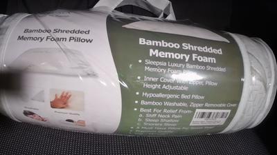 sleepsia bamboo pillow queen size premium memory foam pillow with washable pillow case adjustable queen
