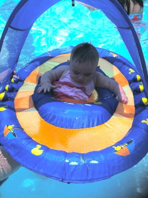 Swimways Baby Spring Float With Canopy Blue With Ducks : swimways, spring, float, canopy, ducks, SwimWays, Spring, Float, Canopy, Walmart.com