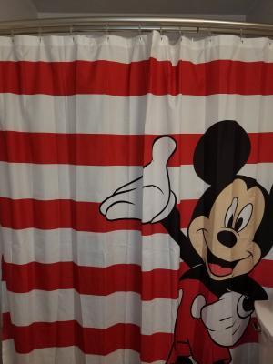 disney mickey mouse fabric shower curtain 1 each