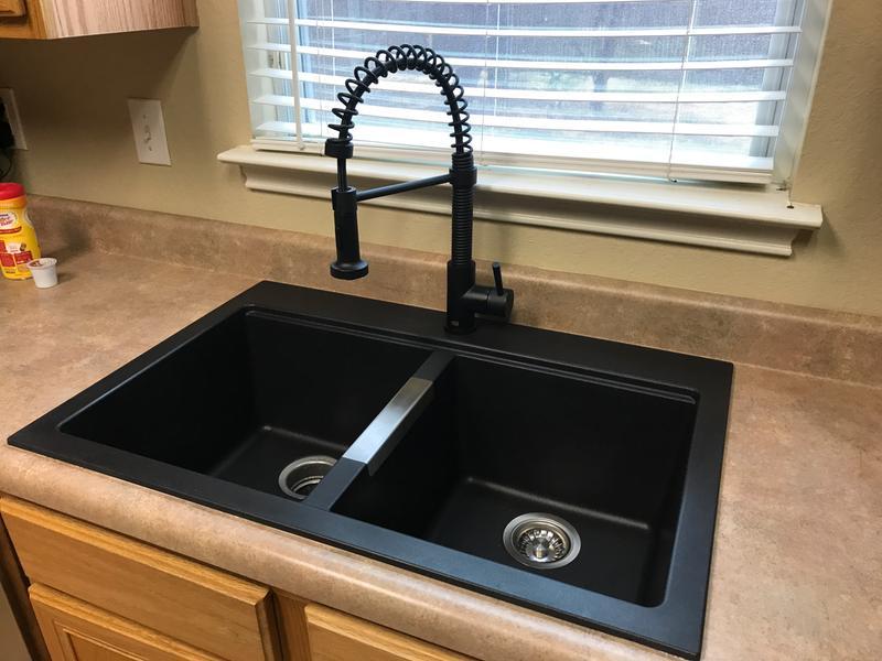 black sink kitchen standing cabinets for kraus 31 inch rectangle corner undermount single bowl onyx walmart com