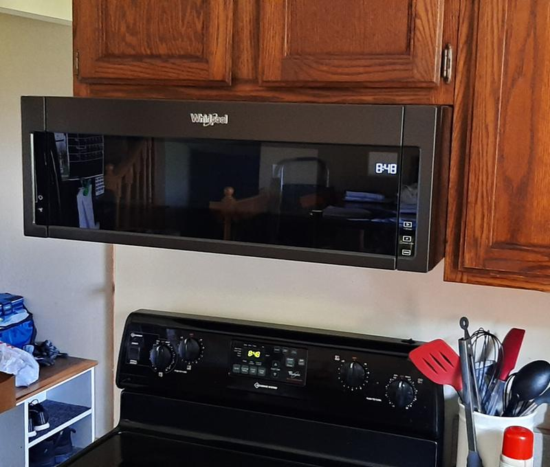 whirlpool wml75011hz microwave oven over range 1 1 cu ft 1000 w stainless steel with built in exhaust system