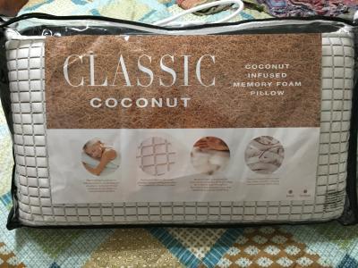 modern sleep premium coconut infused ventilated memory foam pillow multiple sizes