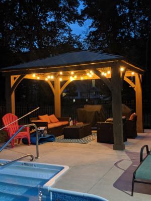 feit outdoor weatherproof string light set 48ft 24 light sockets w 26 led bulbs