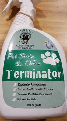 Bubba's Pet Stain And Odor Terminator Instructions : bubba's, stain, terminator, instructions, BUBBAS, Super, Strength, Commercial, Enzyme, Cleaner, Eliminator, Enzymatic, Stain, Remover, Remove, Urine, Smell, Carpet,, Hardwood, Floor, Other, Surfaces