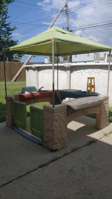 step2 all around playtime patio with canopy with 16 play accessories