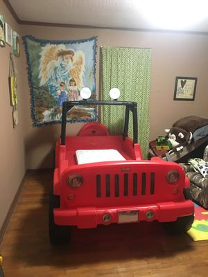 Jeep Car Bed : Little, Tikes, Wrangler, Toddler, Convertible, Walmart.com