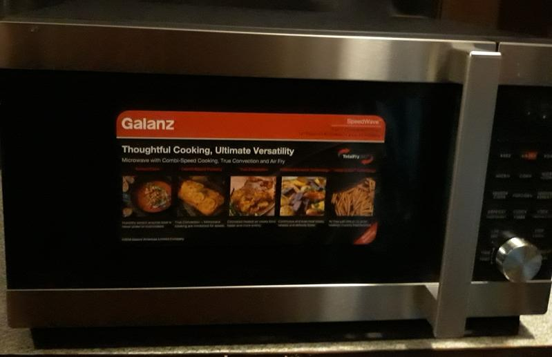 galanz 1 2 cu ft countertop speed wave 3 in 1 convection oven air fry microwave in stainless steel
