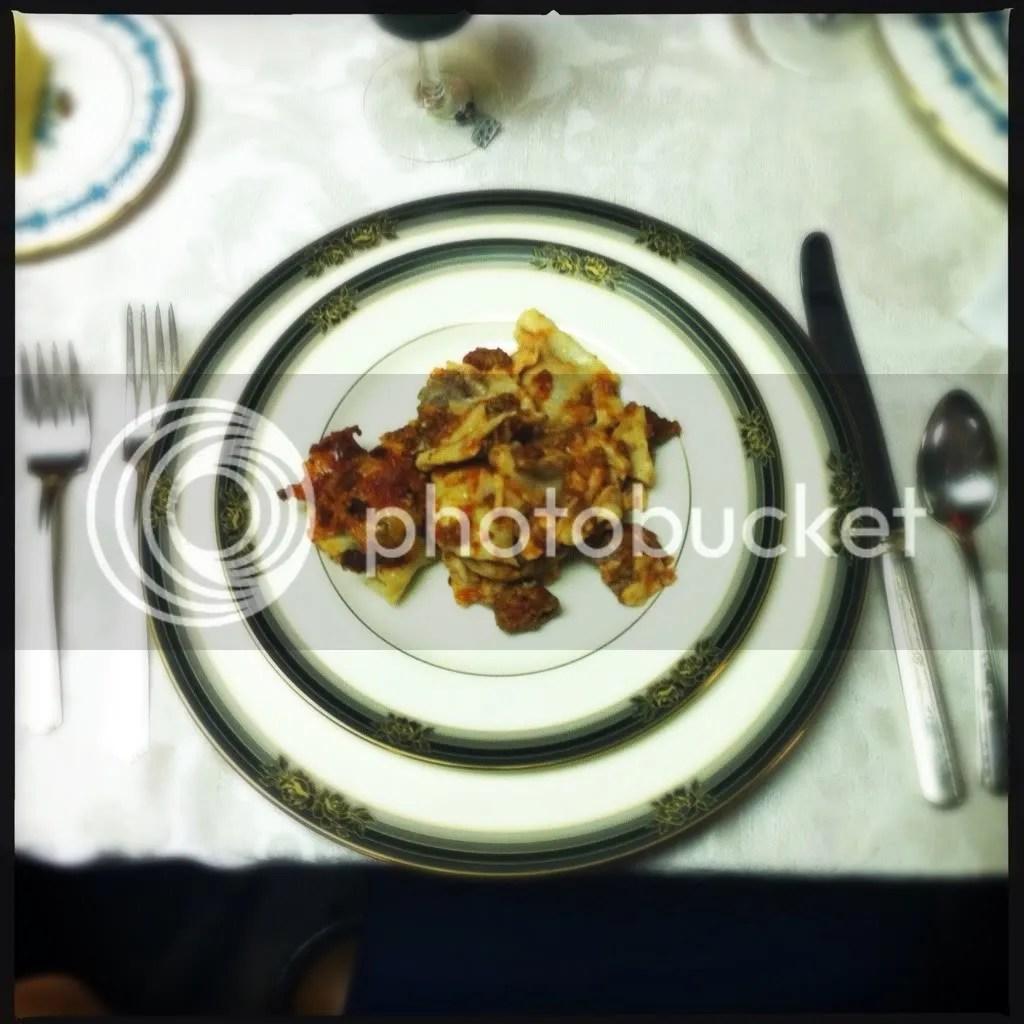 Mary's Thanksgiving ravioli dinner