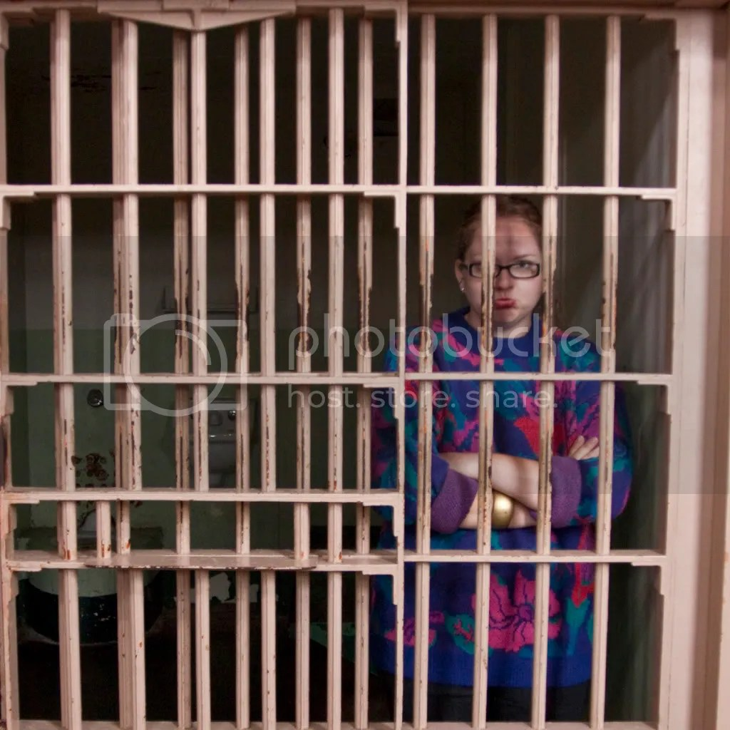 Me in a jail cell at Alcatraz