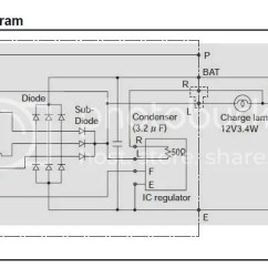 Yanmar Hitachi Alternator Wiring Diagram Generator Automatic Transfer Switch What's The R Connection For On A / Alternator?
