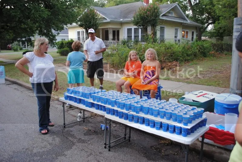 Water Station Along the Course