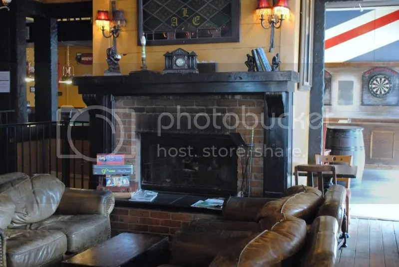 Fireplace at Churchill's