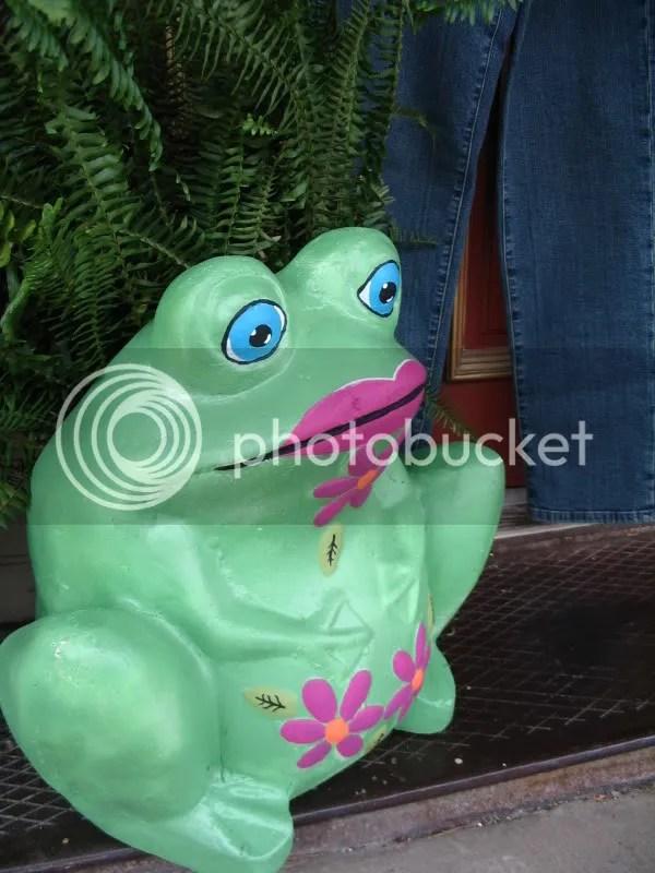 Frog Outside Little Red Hen