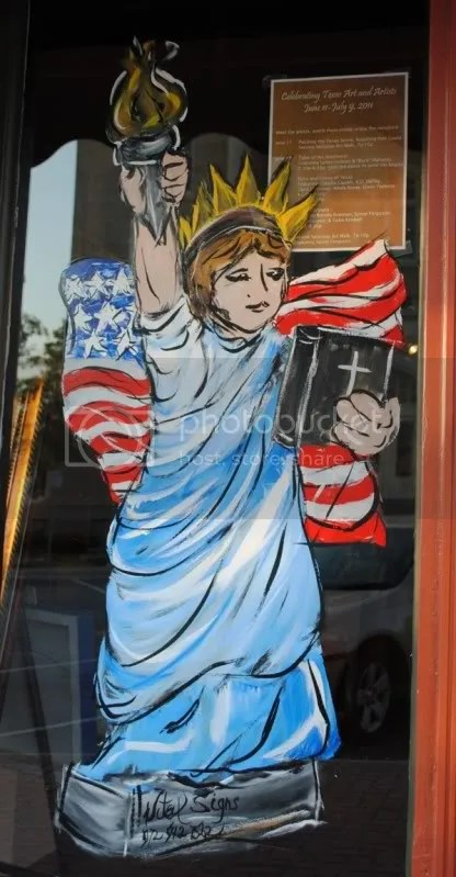 Window Painting at Orison's Art and Framing