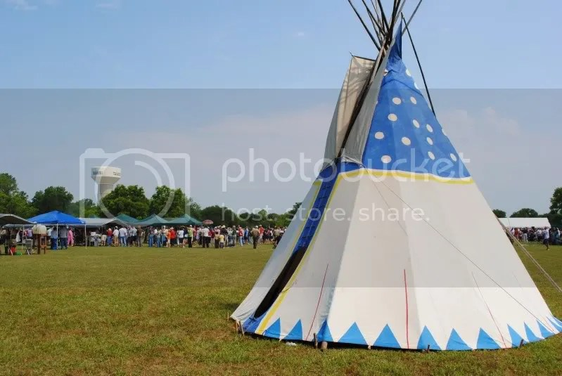 Teepee at Memorial Day Service