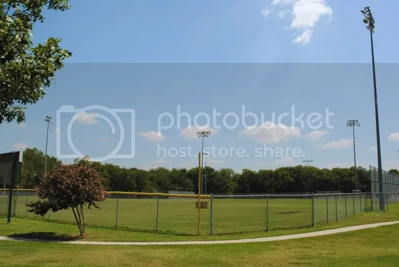 One of Two Baseball Fields at Old Settler's Park