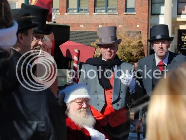 A Barbershop Quartet Serenades Santa