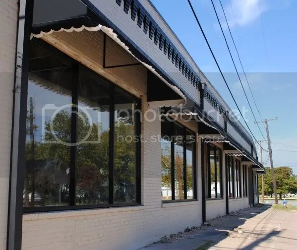 New Windows and Awnings on Old Bakery Building