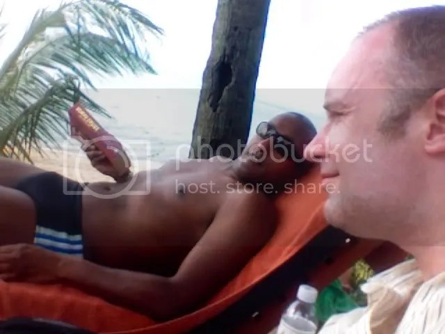 Andrew & I by the beach, Koh Samui, Thailand