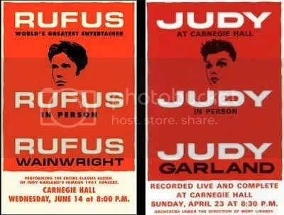 Posters for Rufus/Judy gigs