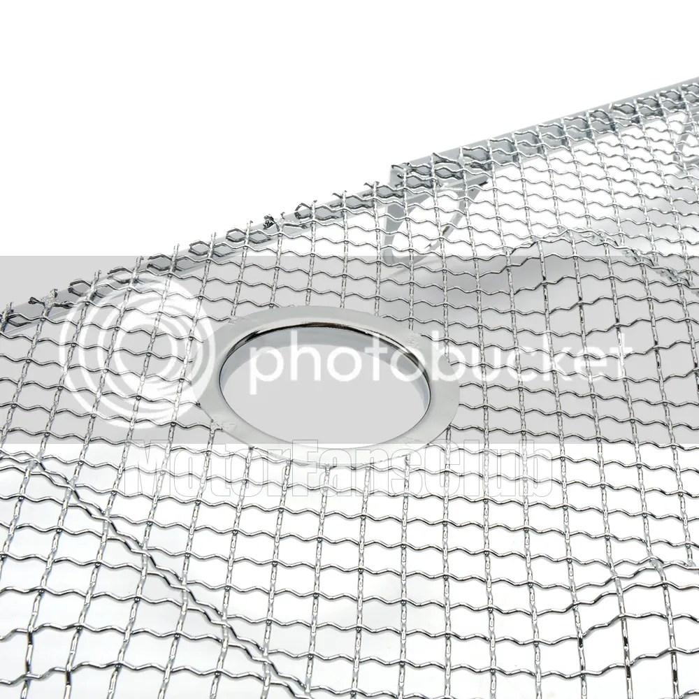 3D Maglia Argento Grill Grille Con Lock Hole Insert Cover