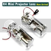 H4 Mini Projector Lens Headlight Kit Bulb Lamp BI-XENON ...