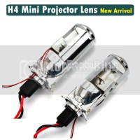 Car H4 Mini Projector Lens Headlight Kit 3 Bulbs Headlamp ...