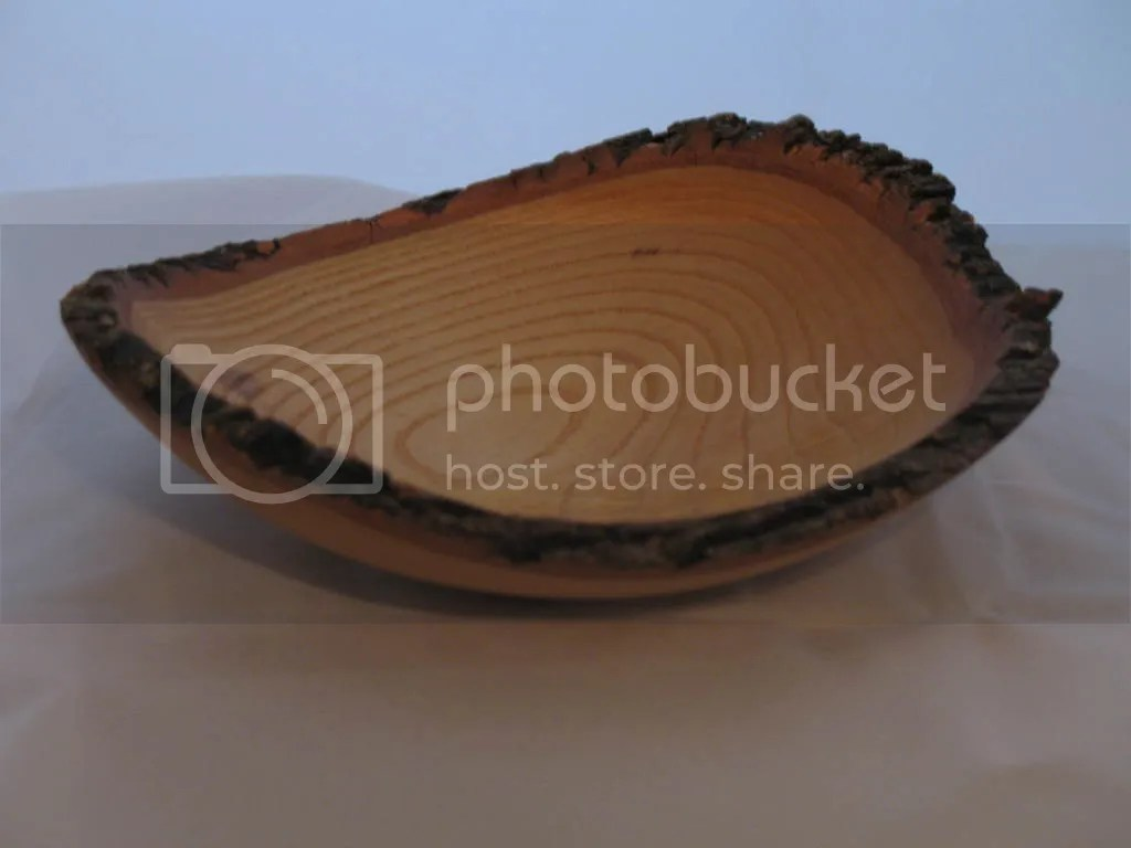 White oak natural edge bowl