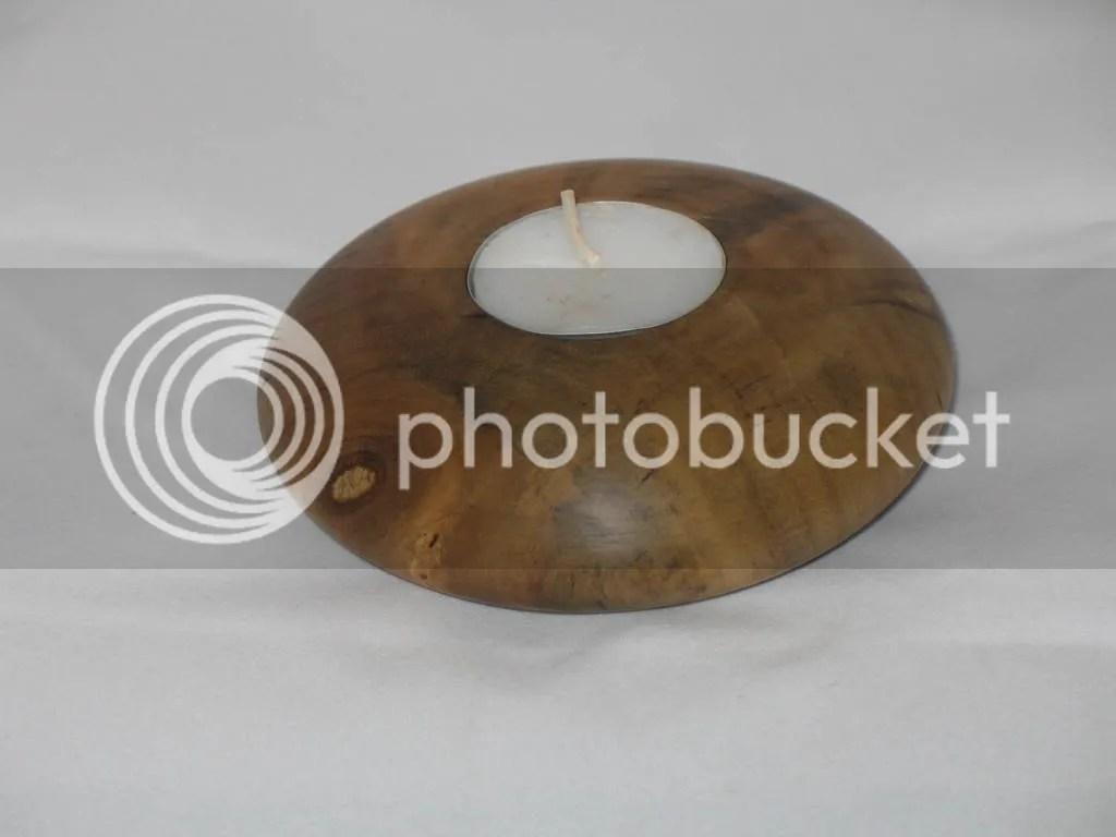 Magnolia tea candle holder