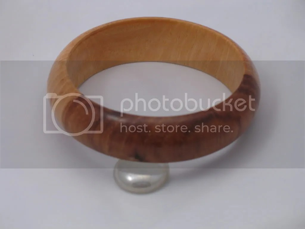 Cherry heartwood and sapwood bangle bracelet