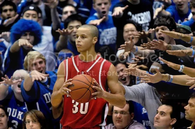 Stephen Curry is uncertain about Davidson's NCAA future.