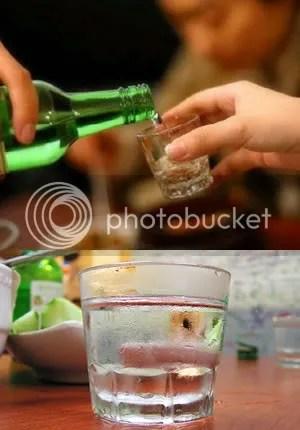 Bebiendo Soju