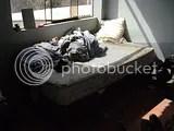 La cama en desorden