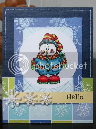 penguin hello card