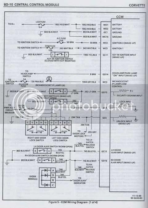 1980 Corvette Wiring Schematic 1990 Instrument Cluster Wiring Diagram Corvetteforum