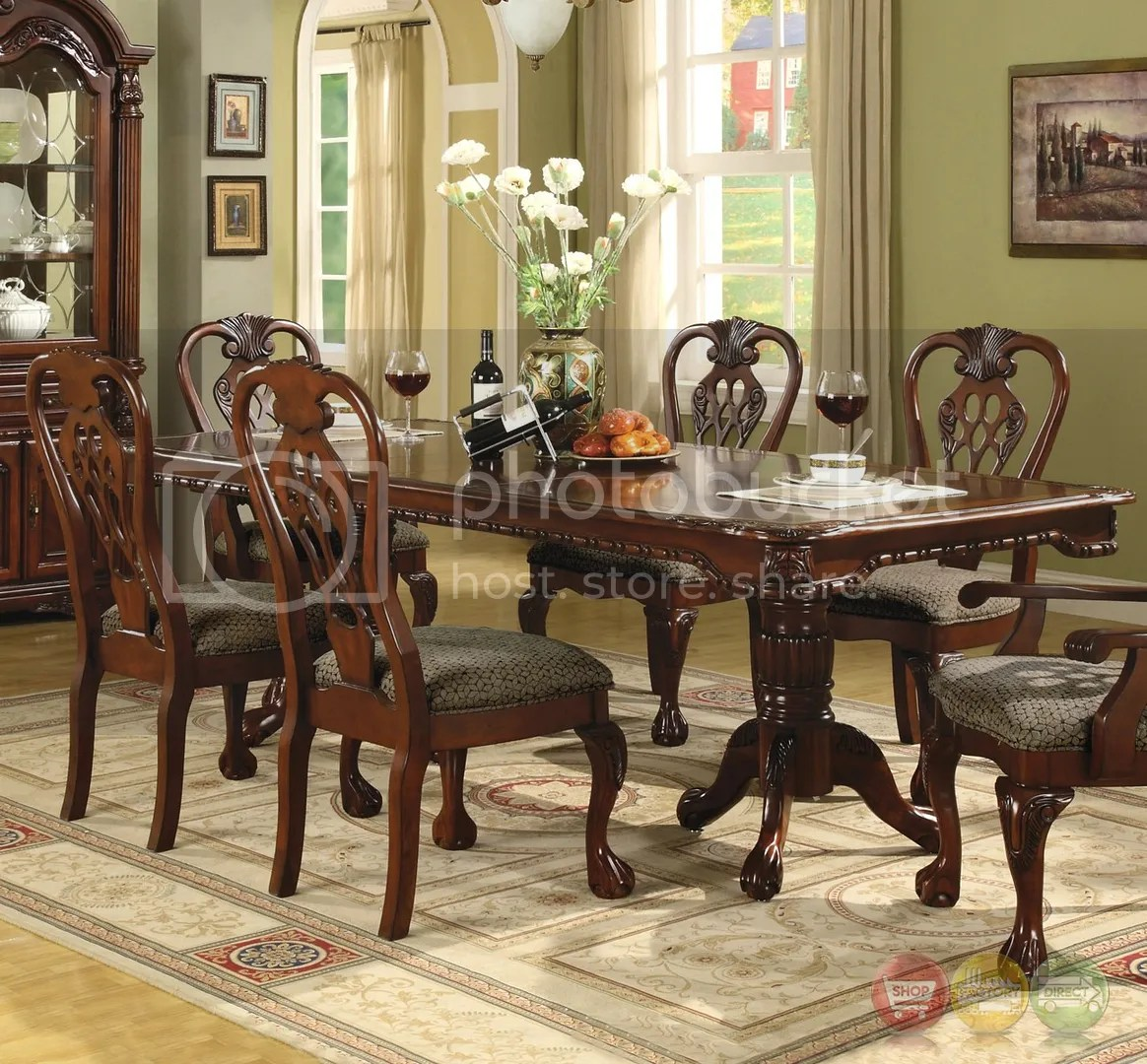 Dining Room Chair Sets Details About Brussels Formal Dining Room 7 Piece Furniture Set Traditional Dark Cherry Wood