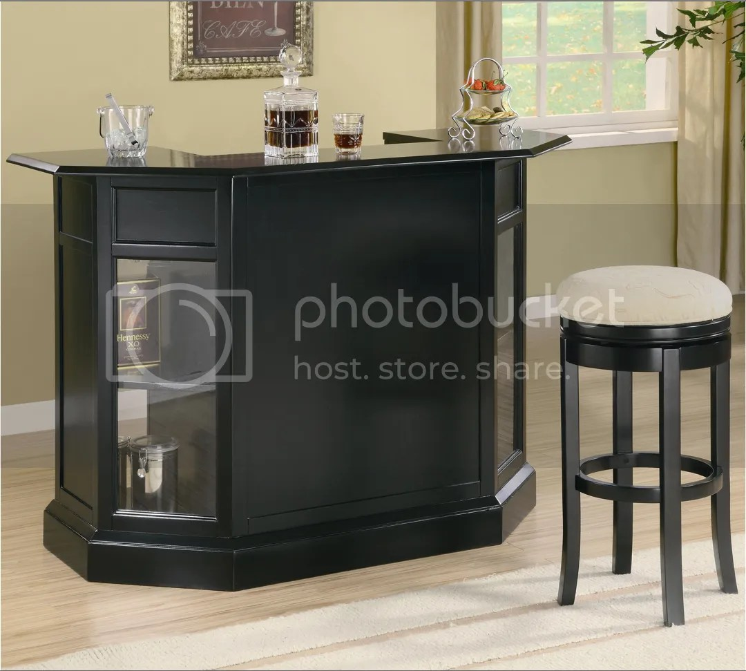 Inwood Contemporary Black Home Entertainment Bar Unit