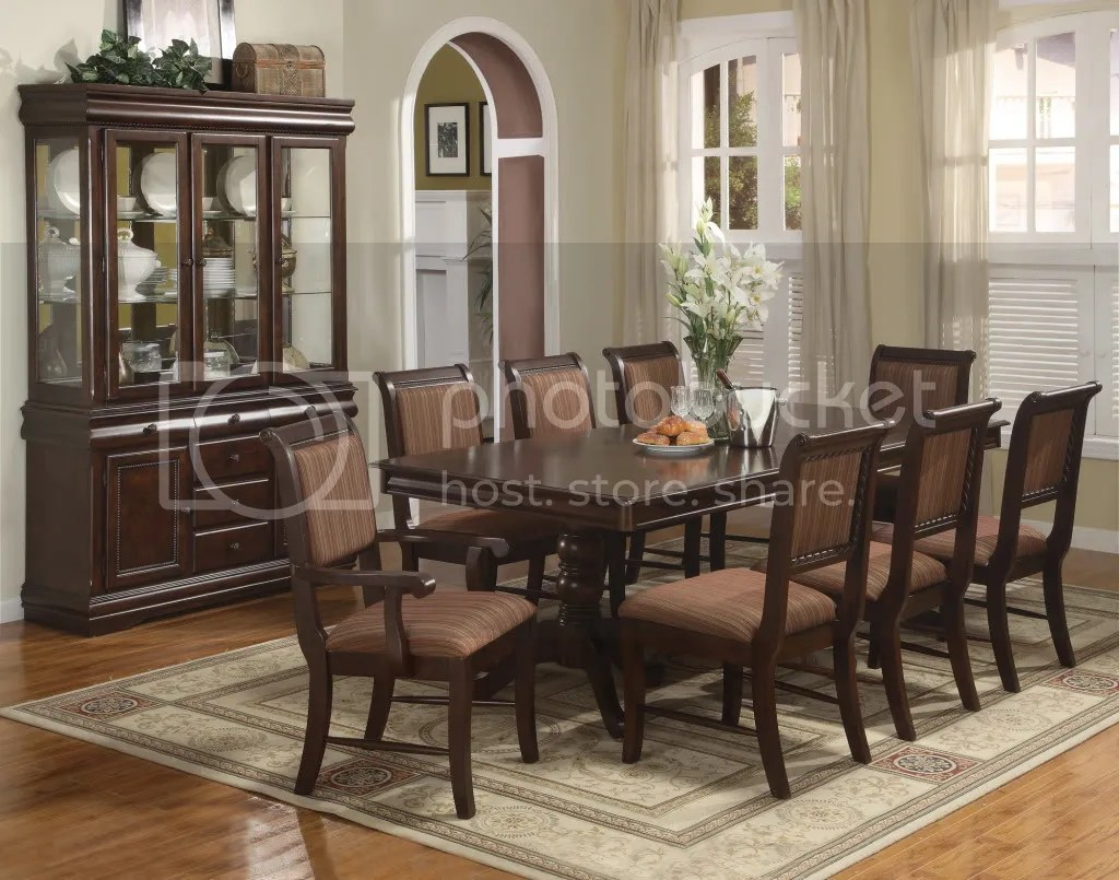black dining room chair and half merlot 9 piece formal furniture set pedestal table 8 details about chairs