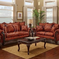 Sofa Magenta Deep Fabric Serta Formal Antique Style Luxury And Love Seat