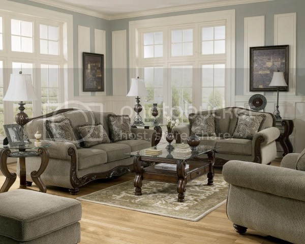 Martinsburg Ashley Traditional Sofa Love Seat & Chair 3