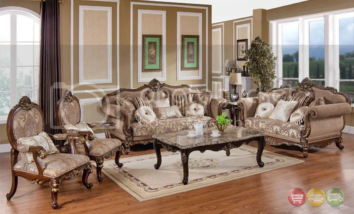 traditional sofa sets living room dfs 2 seater leather recliner victorian antique style loveseat chair 3 piece hd 386