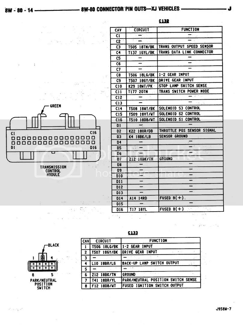 jeep aw4 transmission wiring diagram
