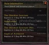 wow saved instance