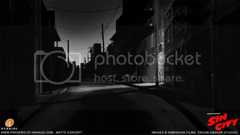Sin City Alley Matte 01 170 Matte Paintings de babar