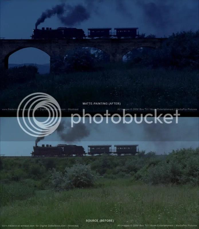 WIW MP Train chasing 170 Matte Paintings de babar