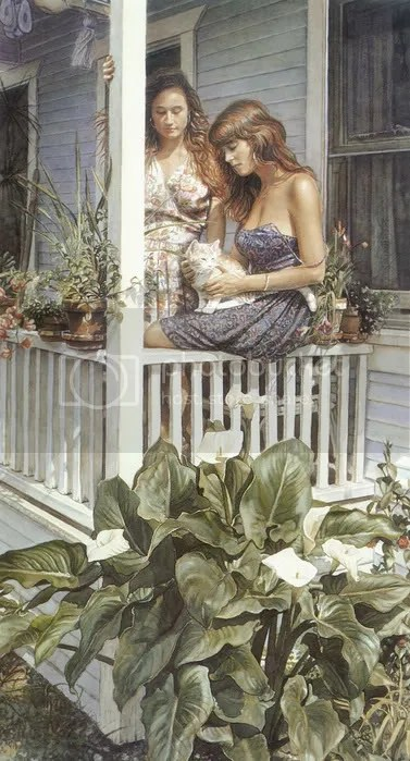 38541988 kb Hanks SteveSummer Porch As incríveis aquareleas de Steve Hanks