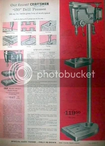 Craftsman 150 Drill Press Bearings